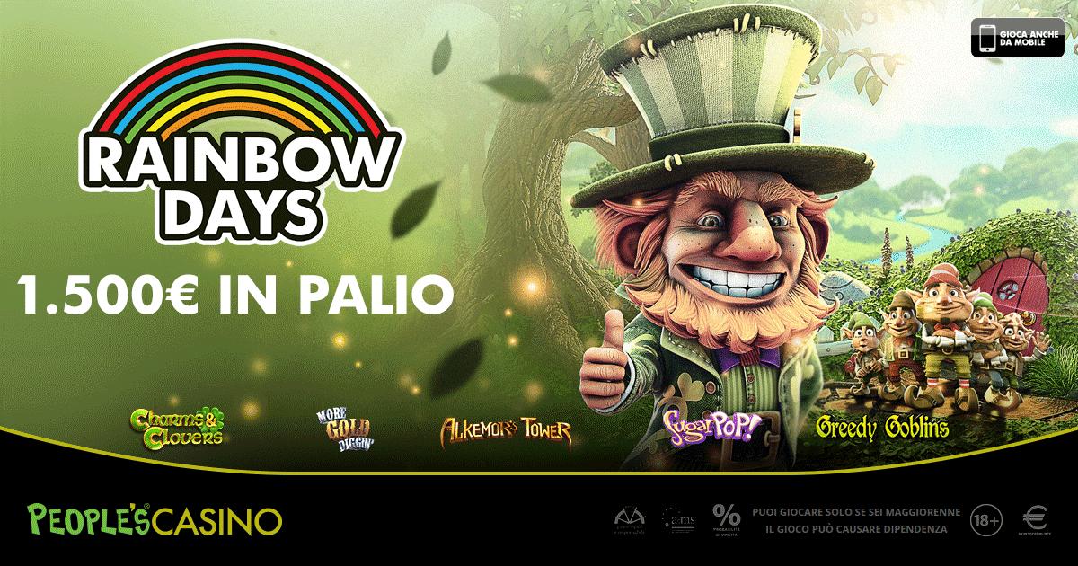 Rainbow Days colora il People's Casino: nei boschi irlandesi trova il tuo tesoro