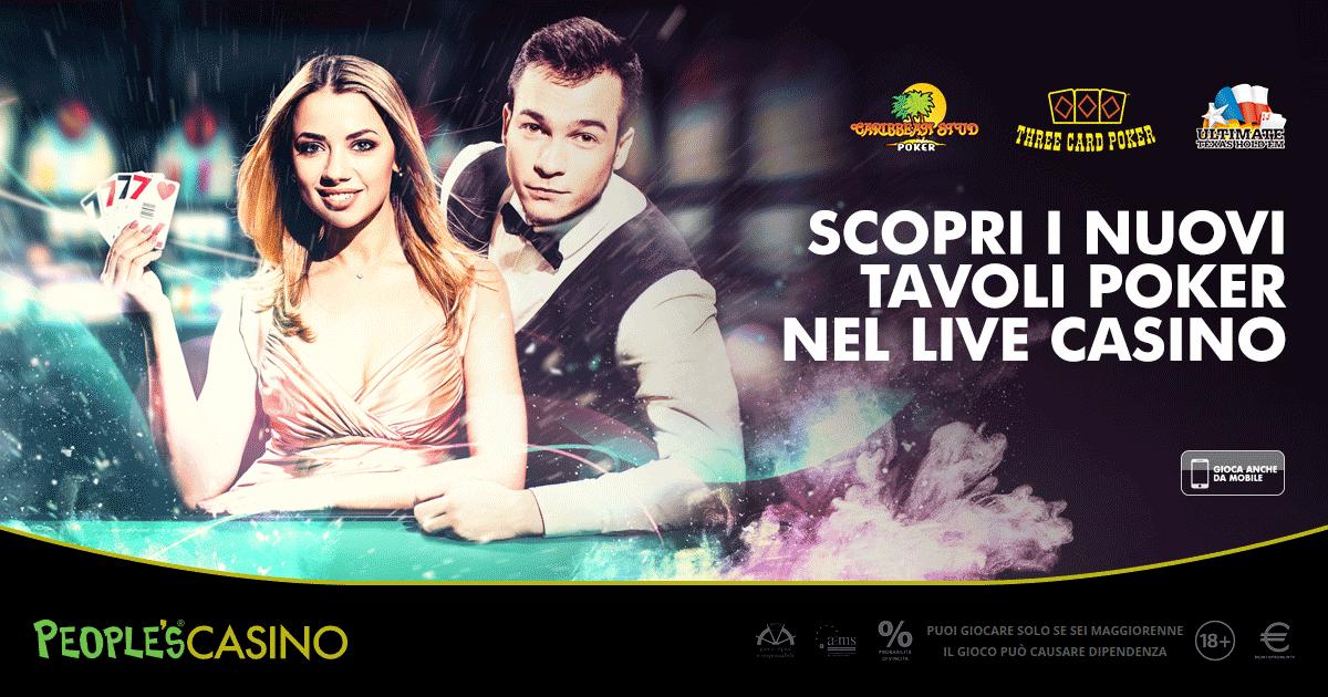People's Casino, tre nuove varianti live del poker fanno crescere il divertimento