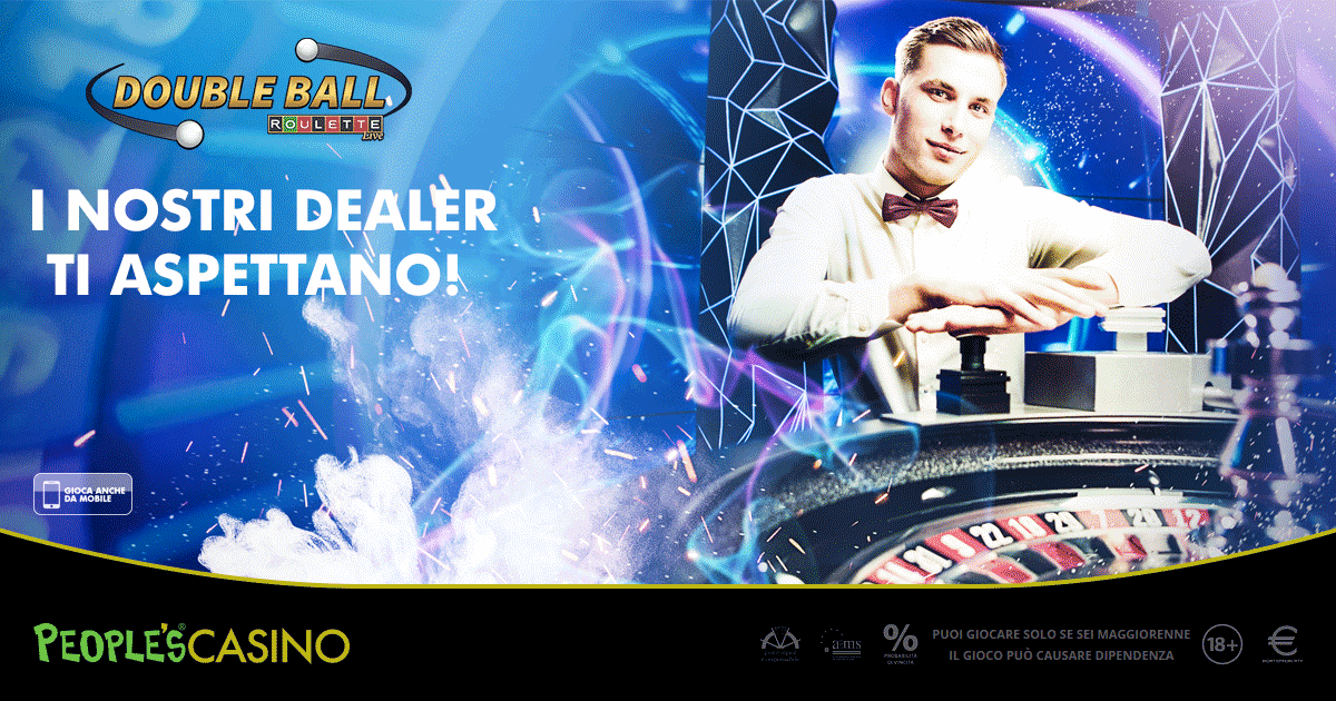People's Casino inaugura la Double Ball Roulette Live: vincite fino a 1.300 volte la posta