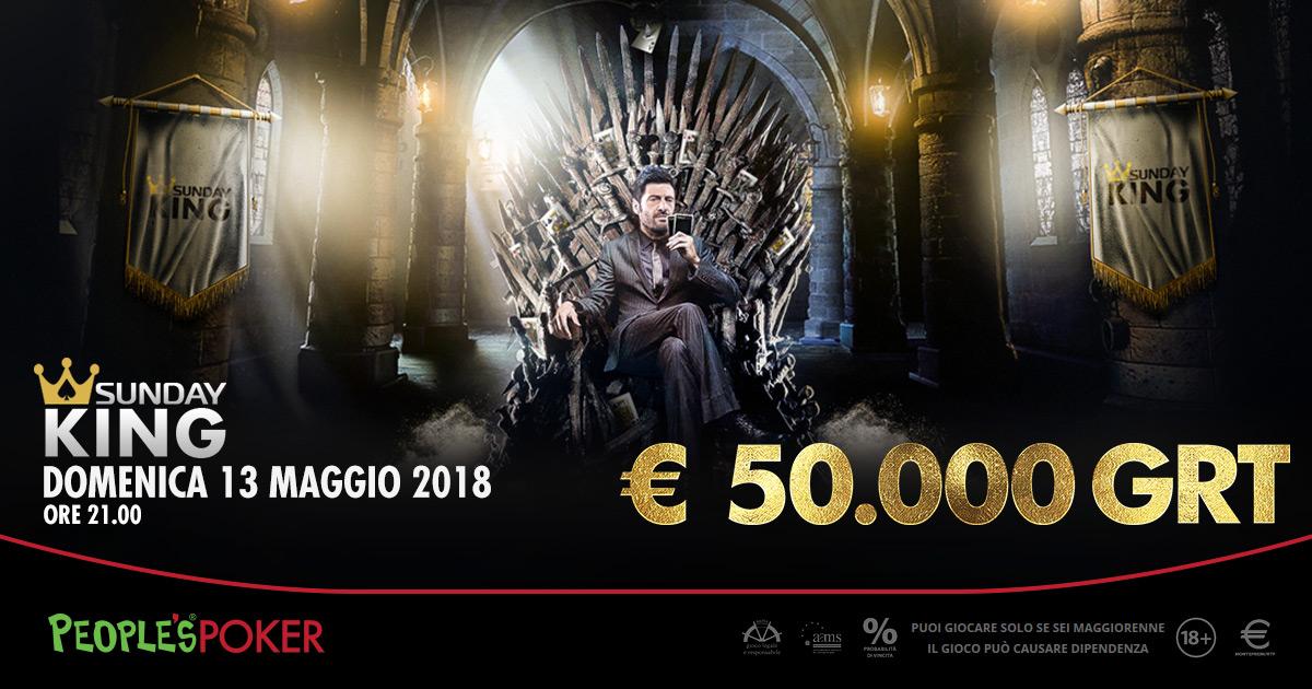 Sunday KING da 50.000 euro, People's Poker offre tutti i comfort per partecipare