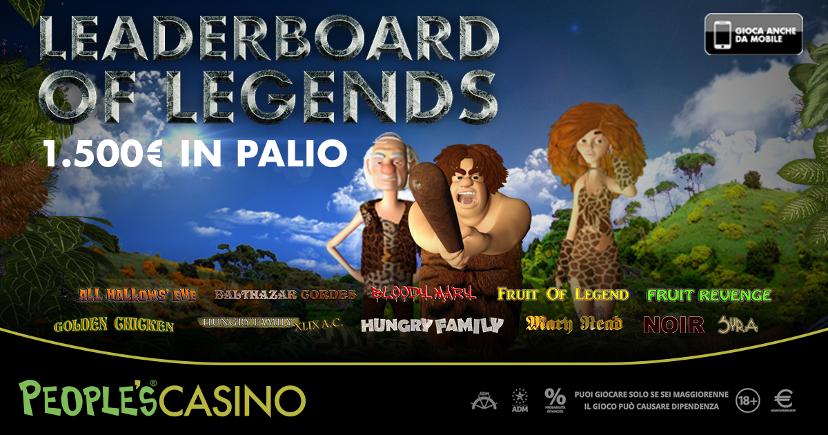 Leaderboard of Legends, in palio 1.500 euro con la nuova promo People's Casino