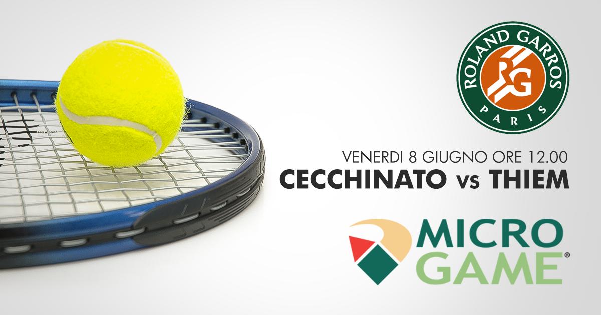 Tennis, Roland Garros: Cecchinato contro Thiem, impresa finale a 5,50