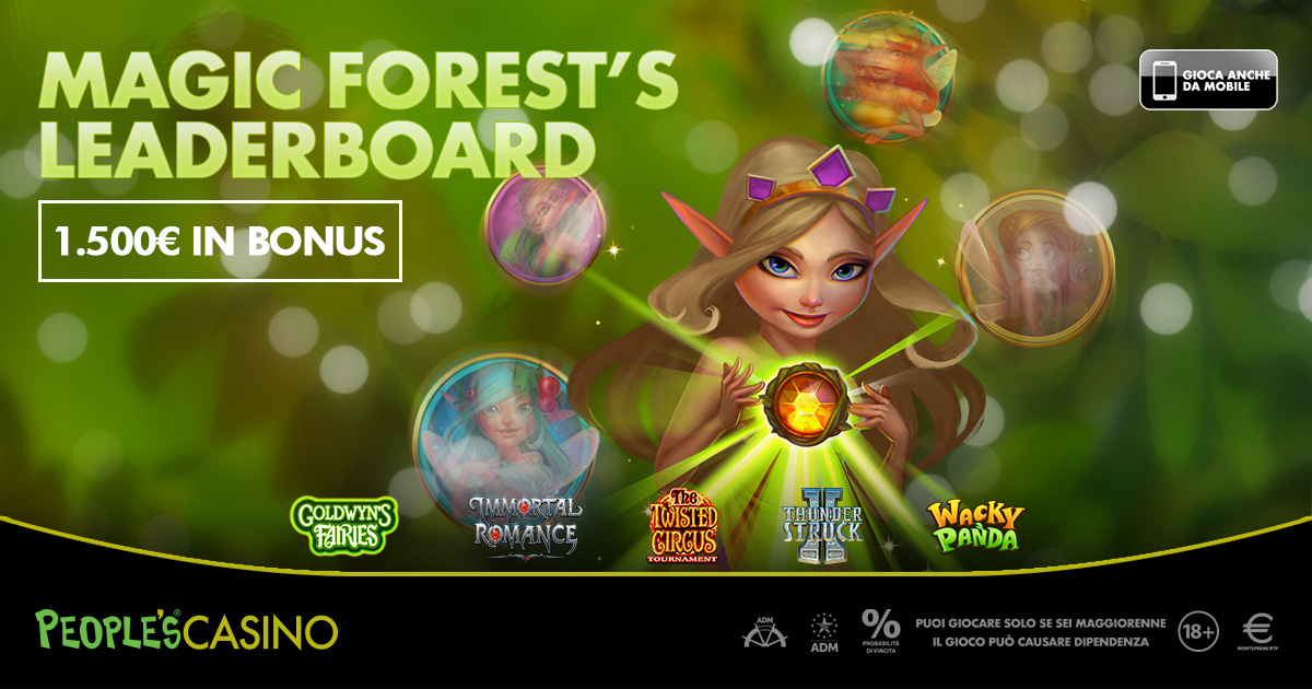 Magic Forest's Leaderboard, nella foresta magica nuove slot e 1.500€ in bonus!