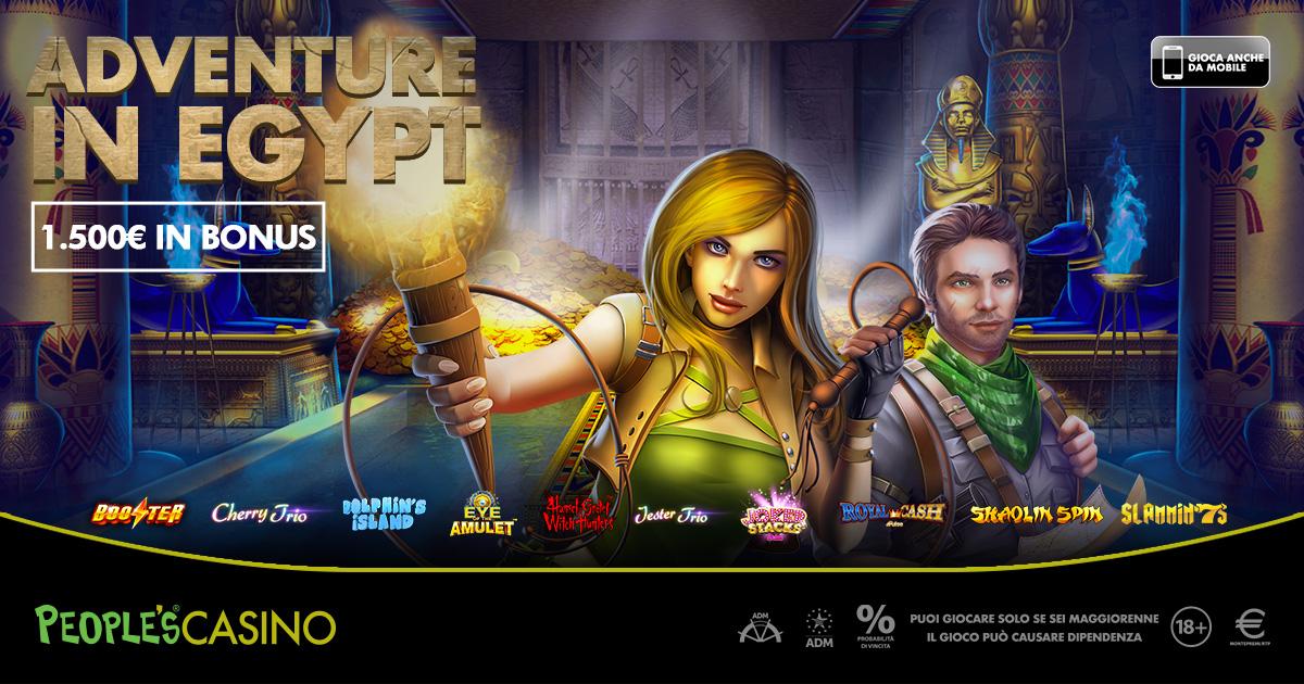 People's Casino: 100 bonus sulla strada che conduce dall'Egitto al Ferragosto