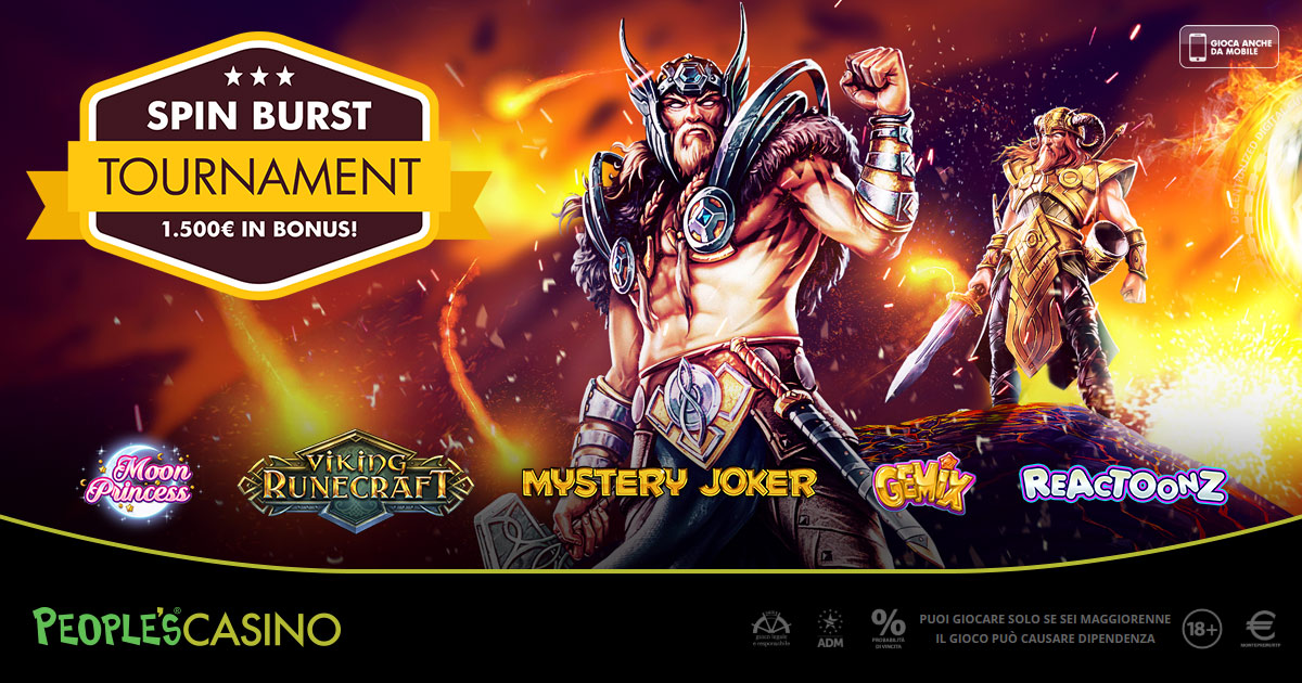 Burst Tournament, su People's Casino esplode la promozione del buonumore
