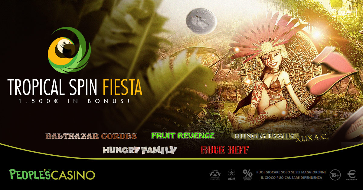 Tropical Spin Fiesta: People's Casino organizza una festa messicana da 1.500 euro
