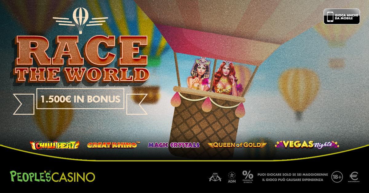 Race the World, parte il viaggio intorno al mondo organizzato da People's Casino