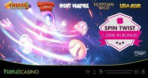 Nel People's Casino arriva Spin Twist e distribuisce premi extra per 1.500 euro