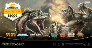 Nuovi giochi nel People's Casino e fino a martedì attiva la promo da 1.500 euro