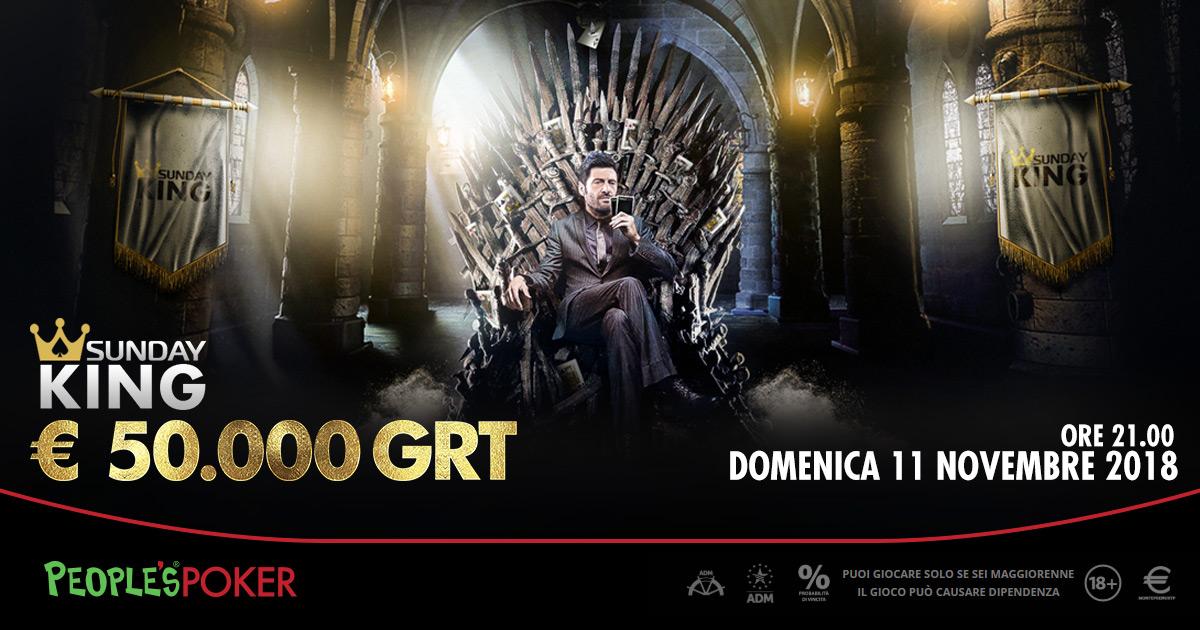 Sunday KING, competizione per oltre 500 giocatori: andreshh si impone in un finale scoppiettante
