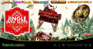 Promo da 2.000 euro e 100 premi, nel People's Casino suona Jingle into Slots