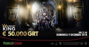 People's Poker domenica propone il King da 50mila euro: rischio vip al tavolo