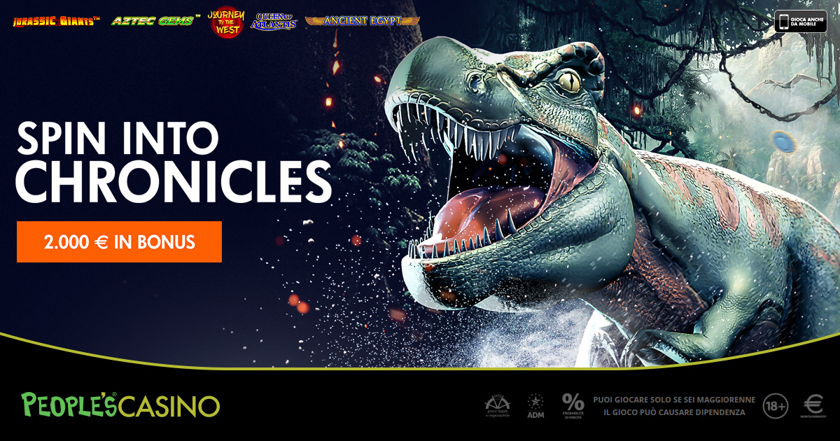 Spin into Chronicles, 2.000 euro ed extra bonus con la promo del People's Casino