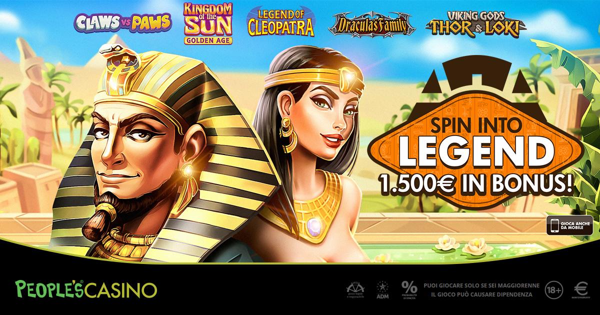 Spin into Legend, People's Casino inaugura la stagione delle promo con 100 vincitori