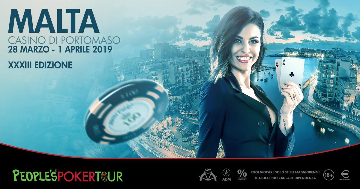 PPTour XXXIII: a Malta la sesta tappa di sempre. Online sat a 50 cents
