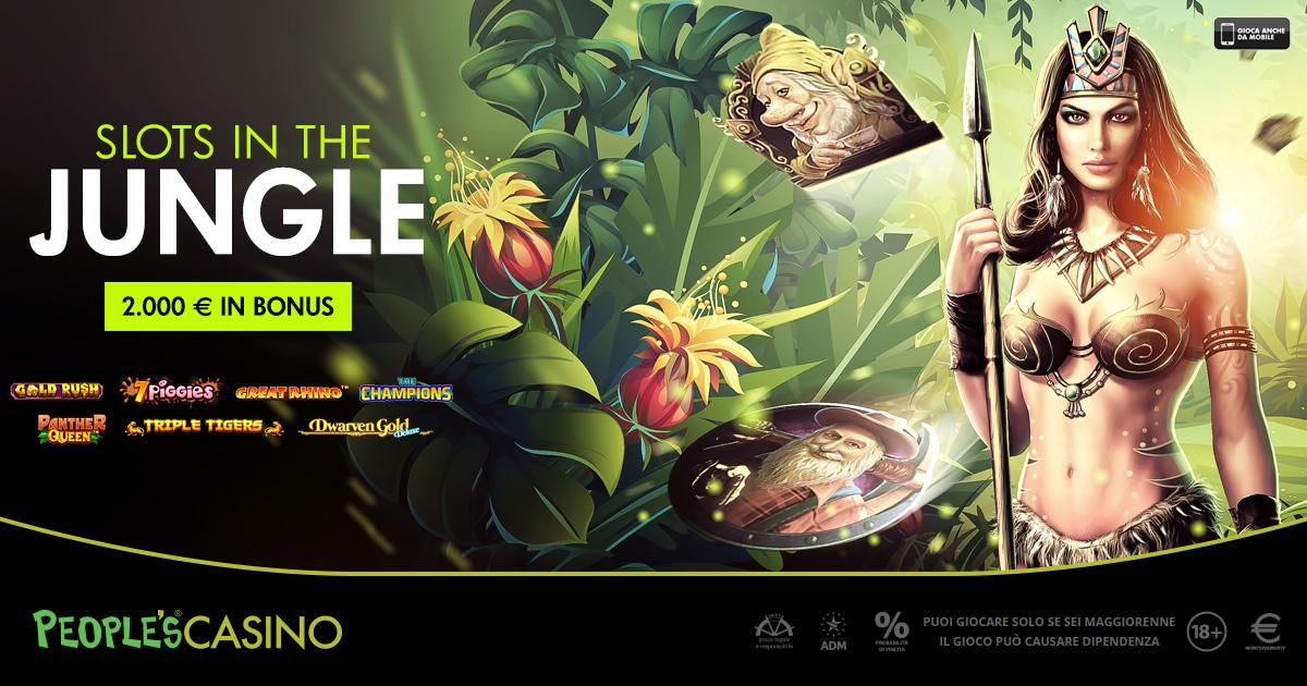 Promo People's Casino, 100 bonus e 2.000 euro anche nel cuore della giungla