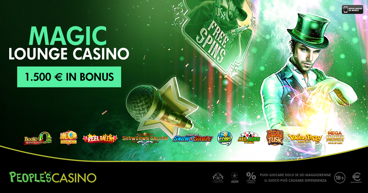 People's Casino fa la magia: 100 premi in palio con la promo Magic Lounge