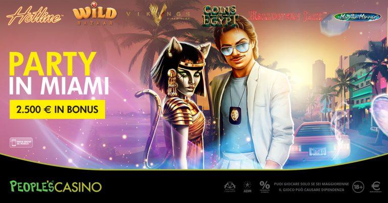 Party in Miami, la soluzione People's Casino per la pasquetta