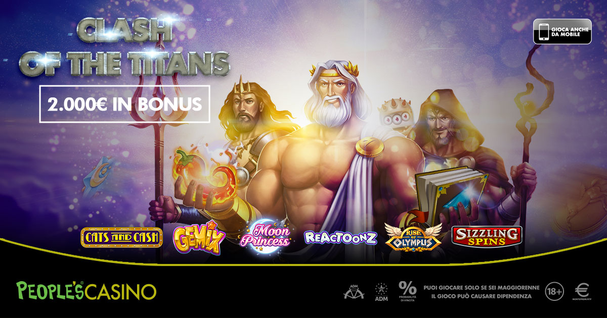 Clash of Titans, il People's Casino premia i primi 100 con 2mila euro