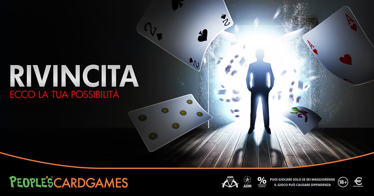 Card Games, stasera primo freeroll della promo Rivincita: si parte con la Scopa
