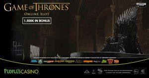 Game of Thrones ispira la promo del People's Casino: 100 extra bonus in palio