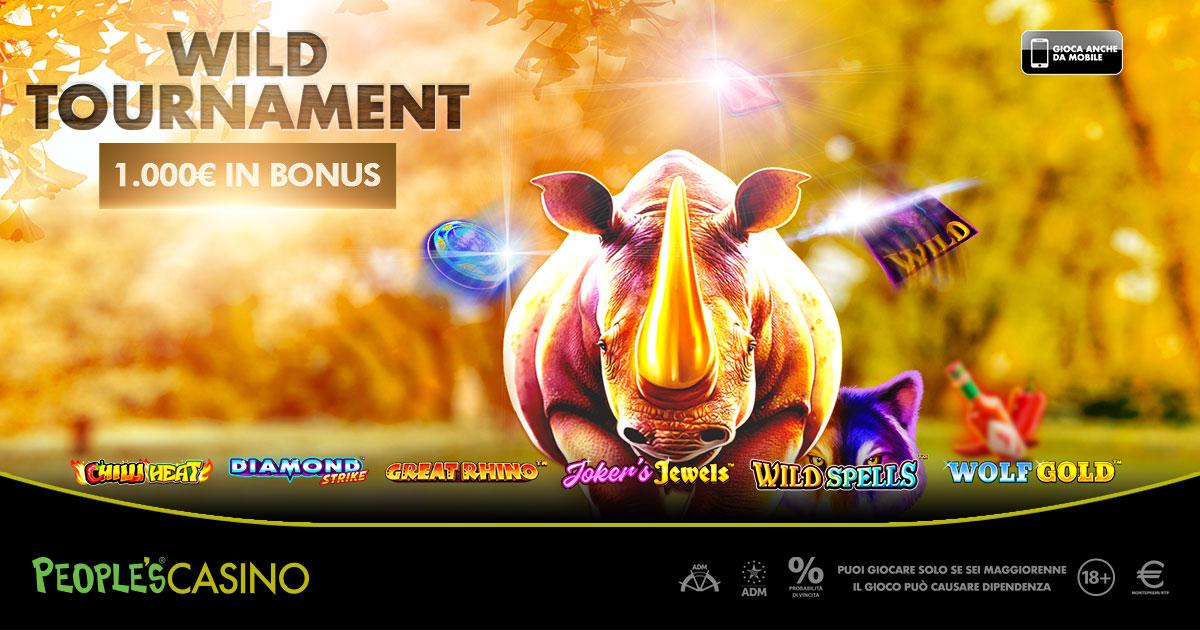 Wild Tournament: nel People's Casino è caccia ai mille euro della promo