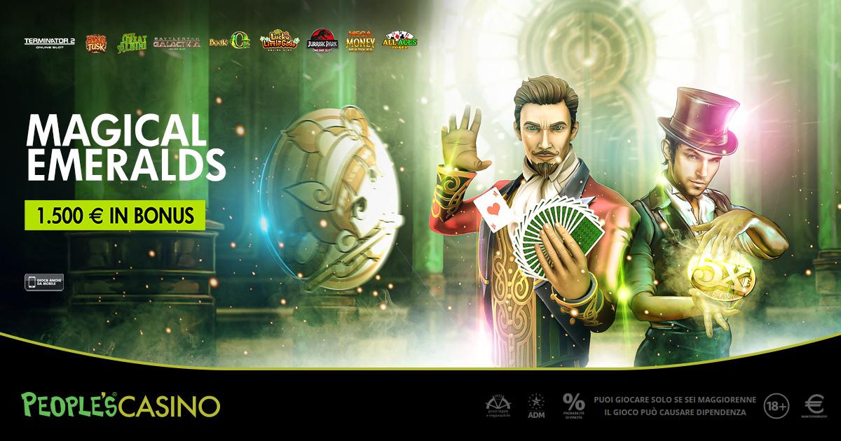 Magical Emeralds, 100 bonus e 1.500 euro sul sentiero dorato del People's Casino