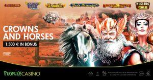 Crowns and Horses, la promo che incorona 100 player del People's Casino