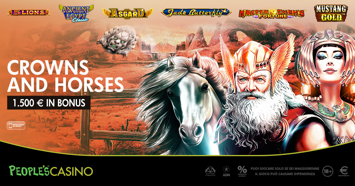 Crowns and Horses, la promo che incorona 100 player del People's Casino