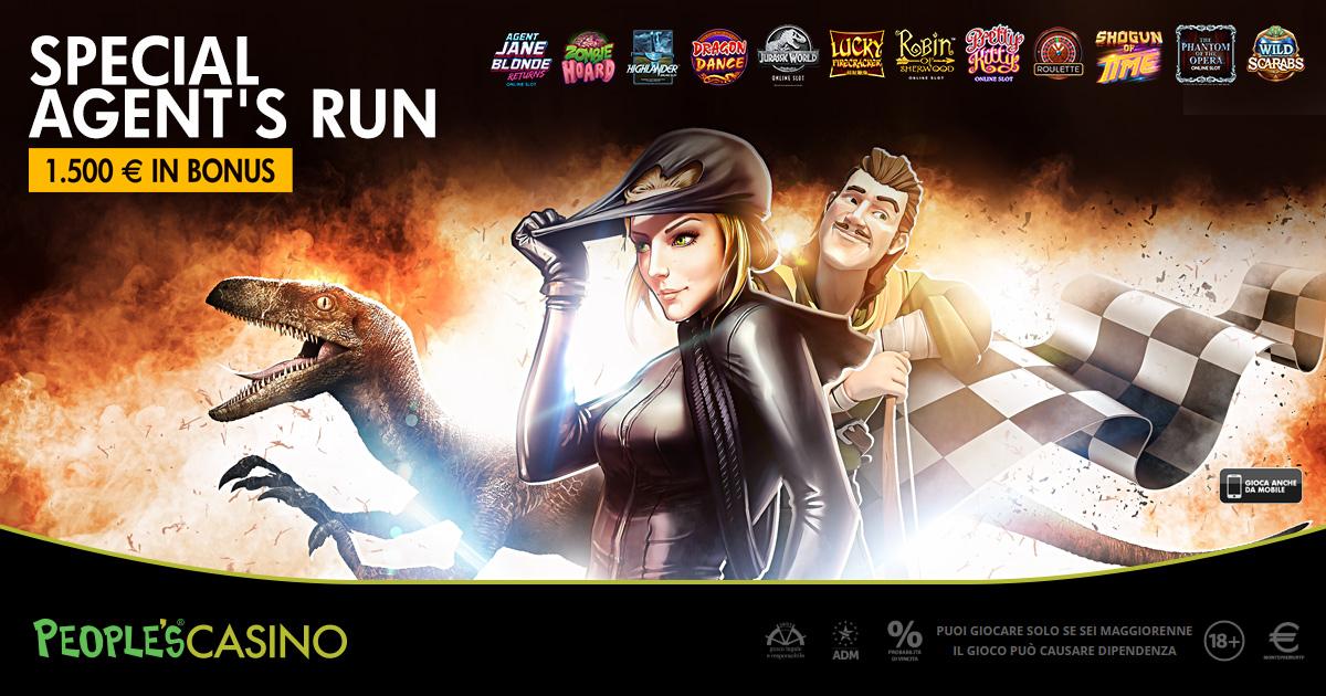 Special Agent's Run: missione per conquistare 100 bonus sul People's Casino