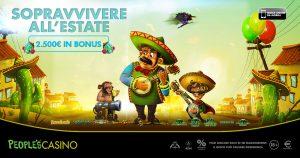 Summer Death Parade, la promo di People's Casino con in palio 150 bonus