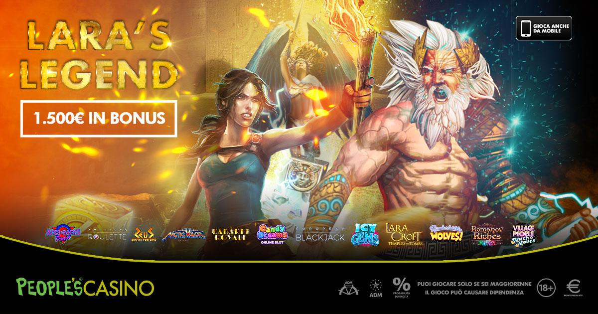 Lara's Legend: promo da 100 bonus per la più famosa eroina di videogame al Mondo