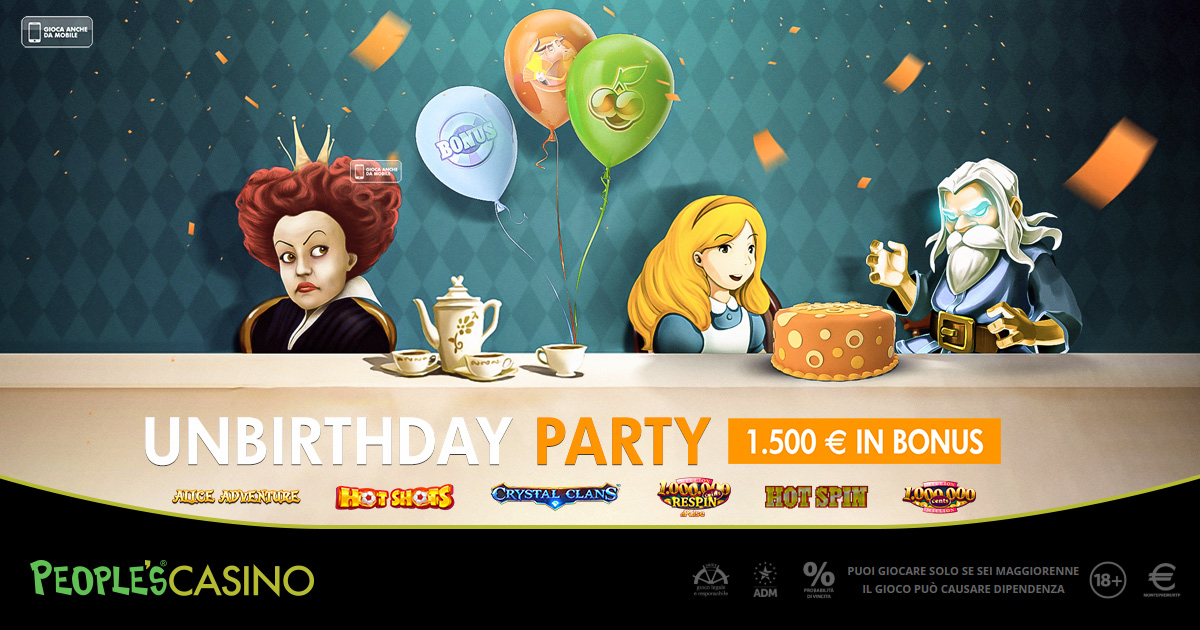 Che meraviglia la promo del People's Casino: pronti 100 regali di non-compleanno