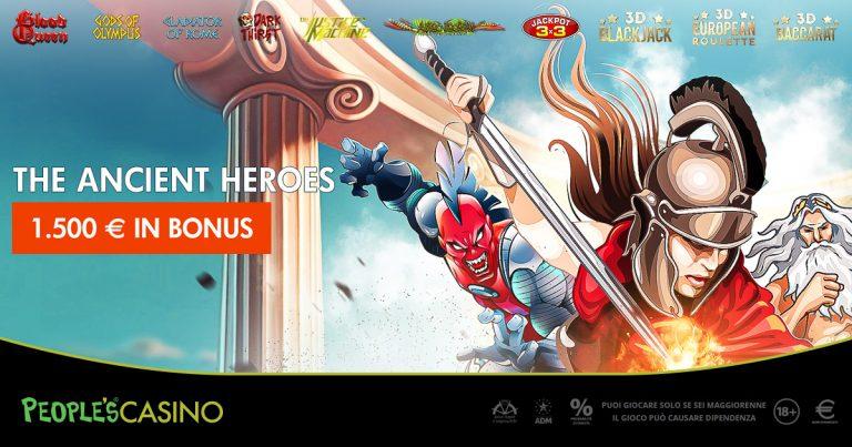 The Ancient Heroes, nel People's Casino sfida tra gladiatori e dei dell'Olimpo