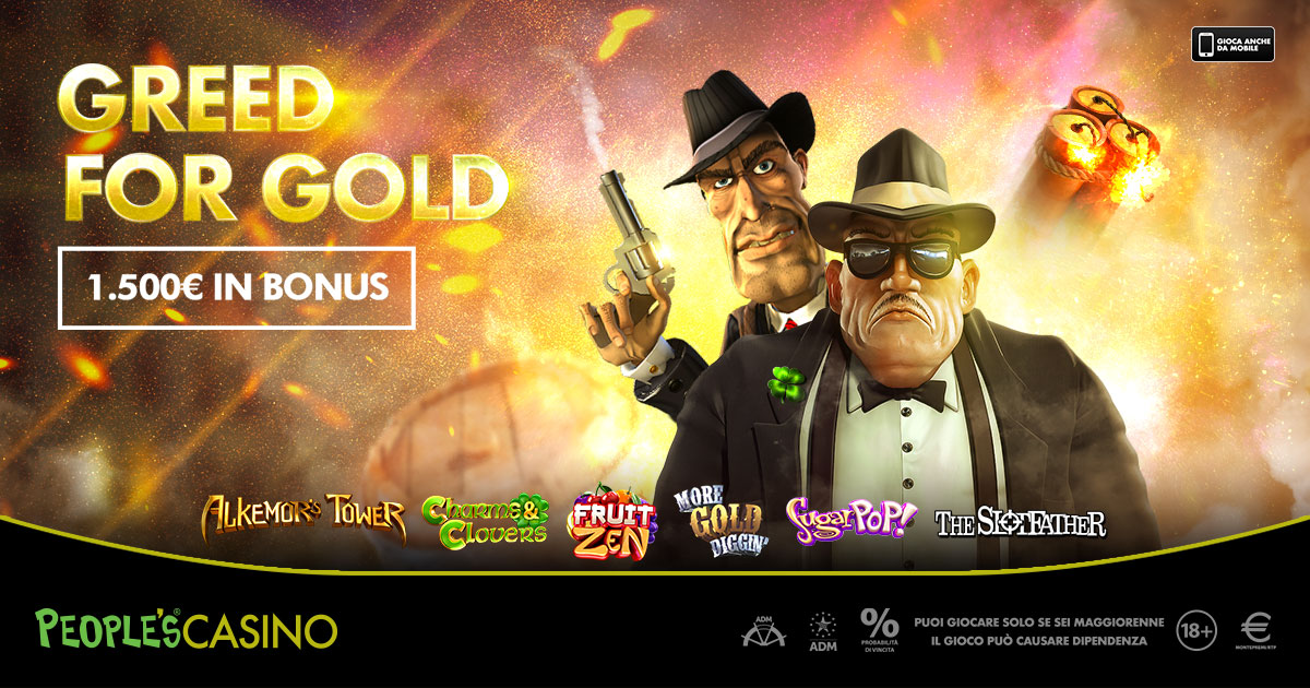 Greed for Gold, la corsa all'oro del People's Casino con in palio 100 bonus
