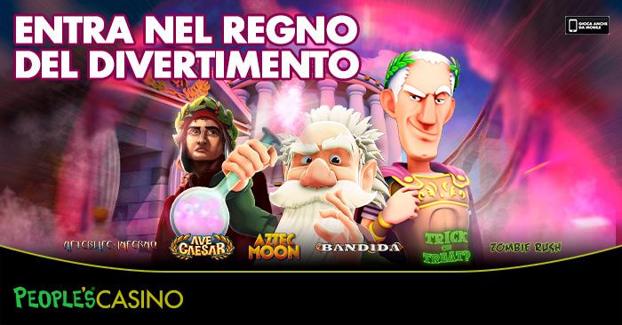 Sempre nuovi giochi, People's Casino è il varco per il regno del divertimento