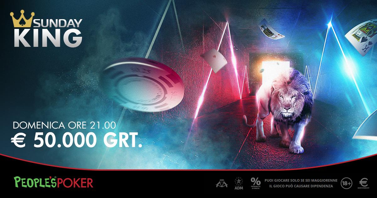 Sunday KING di People's Poker, successo per la prima edizione KO Progressive: distribuiti oltre 55mila euro