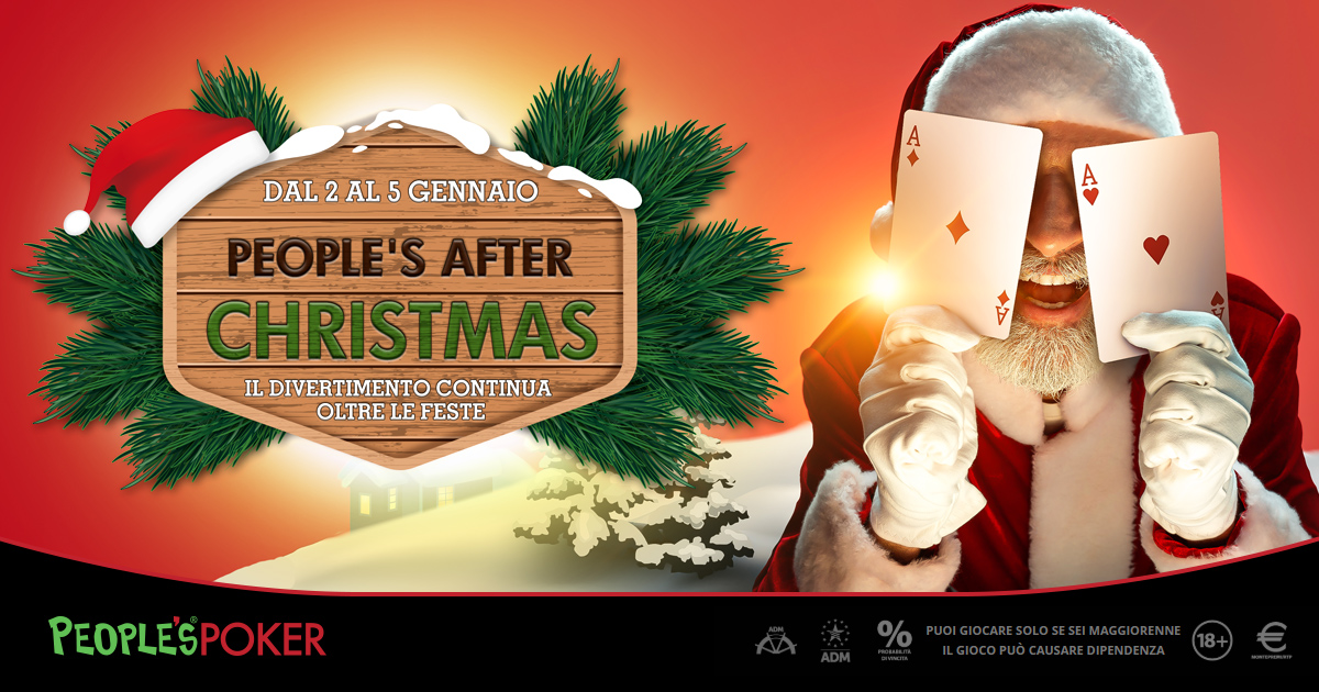 People's Poker, premi e promo anche after Christmas