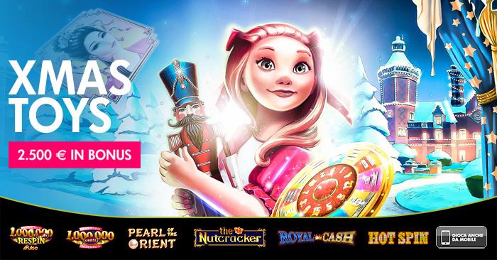 Già si scartano i regali nel People's Casino: 150 bonus e 2.500 euro con XMas Toys
