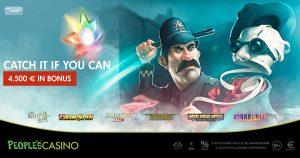 Catch it if you can: la corsa al bonus del People's Casino vale 4.500 euro