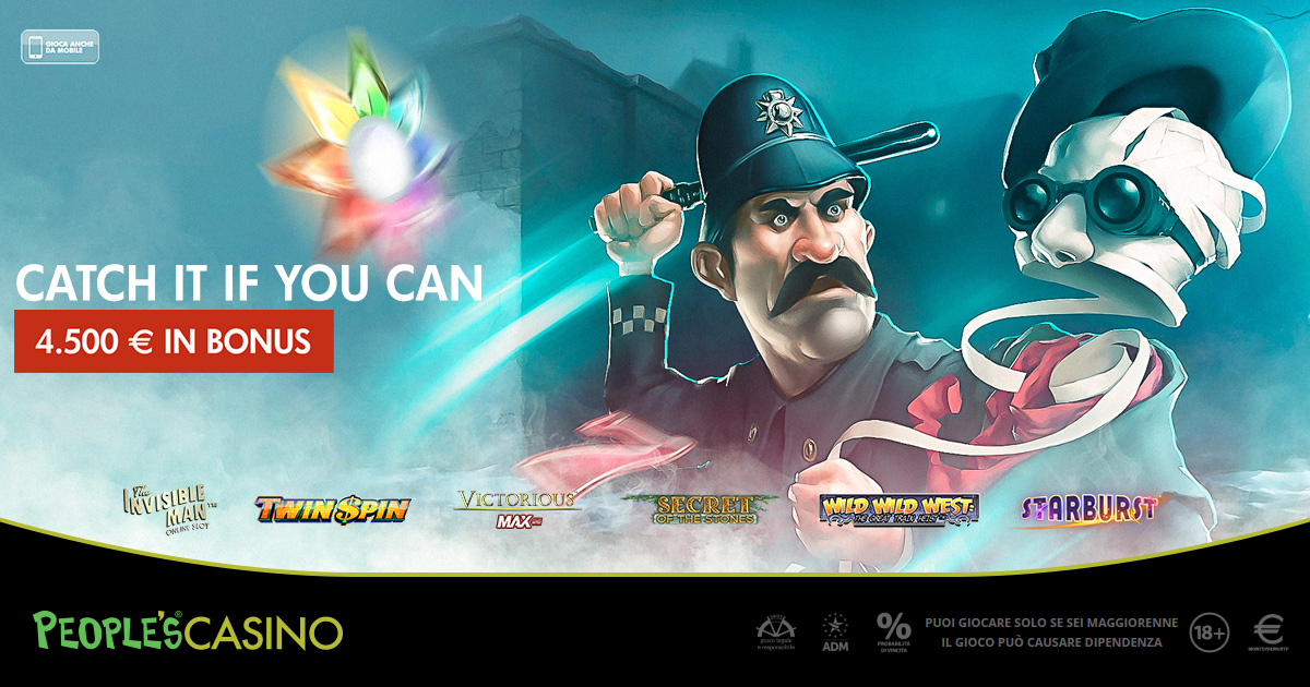 Catch it if you can: la corsa al bonus del People's Casino vale 4.500 euro