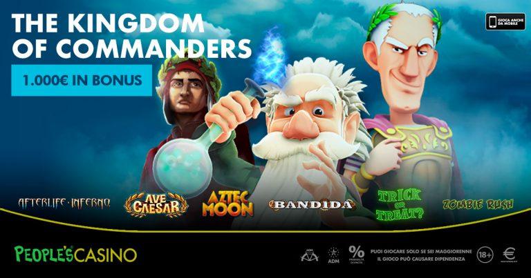Kingdom of Commanders, la battaglia del People's Casino assegna bonus e gloria
