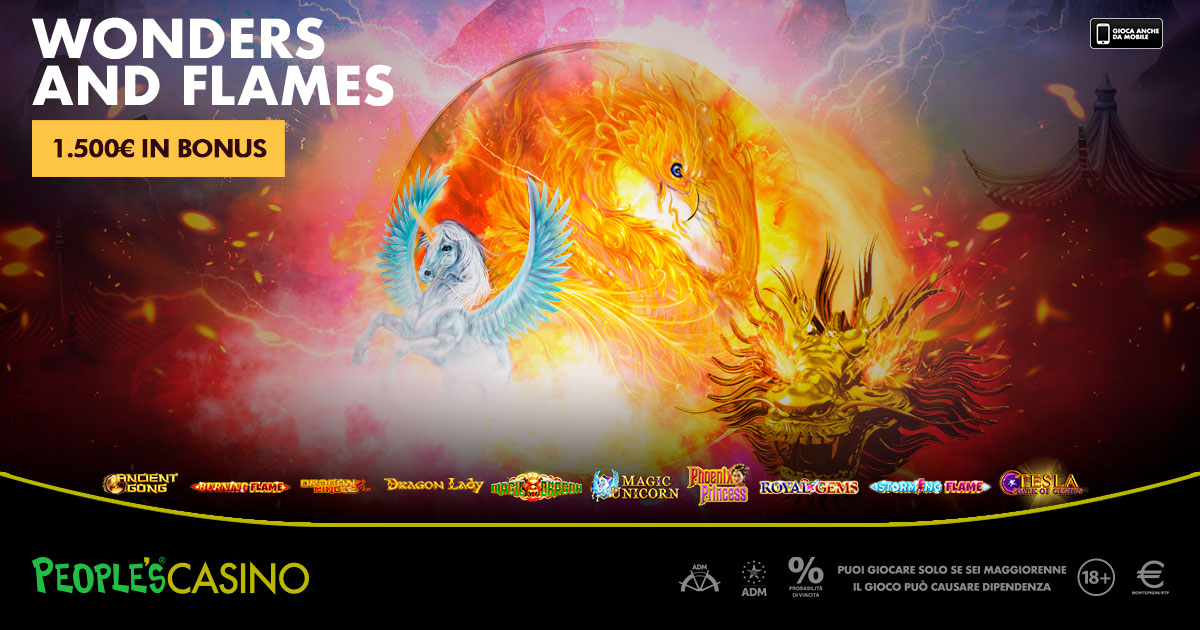 Wonders and Flames: la promo People's Casino con 100 premi e zero spese