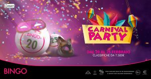 Carnival Party, da Microgame due classifiche e 7.500 euro dedicati al Bingo