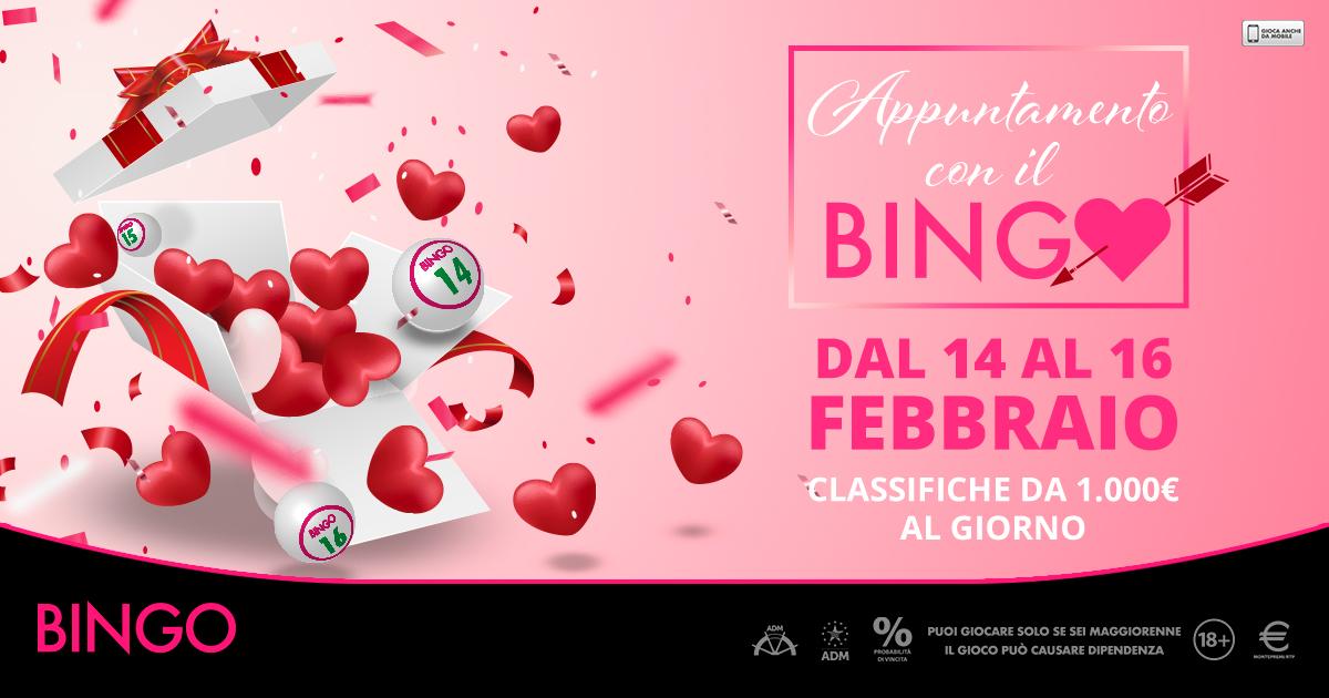 Appuntamento con il Bingo: a San Valentino Microgame dedica 3 giorni agli appassionati