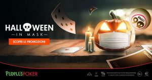 Halloween in Mask, promo People's Poker: a mezzanotte torneo con dolcetto