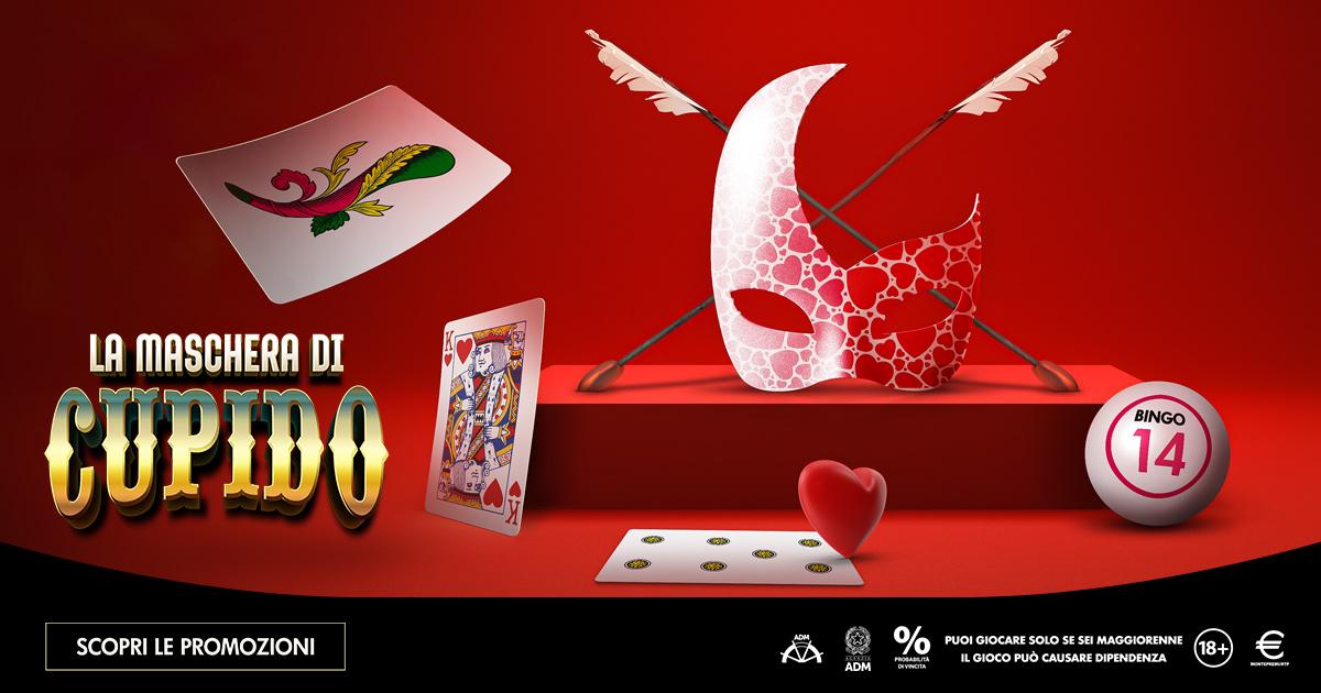 La Maschera di Cupido: per San Valentino e Carnevale promo Microgame sui giochi di carte