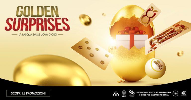 Golden Surprise: nell'uovo Microgame bingo, poker e card games